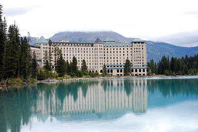Photograph - Chateau Lake Louise by Harvey Barrison