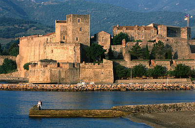 Chateau Royal, 13th Century Castle, Collioure, Languedoc-roussillon, France, Europe Art Print by John Elk III