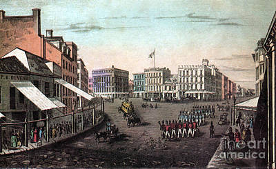 Chatham Square, New York, 19th Century Art Print by Photo Researchers