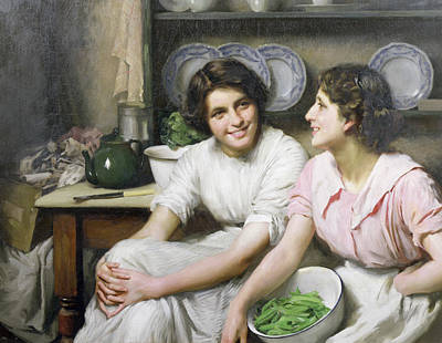 Old Friends Painting - Chatterboxes by Thomas Benjamin Kennington