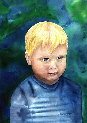 Art Print featuring the painting Chayton by Sharon Mick