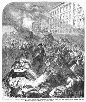 Chcago: Fire, 1871 Art Print by Granger
