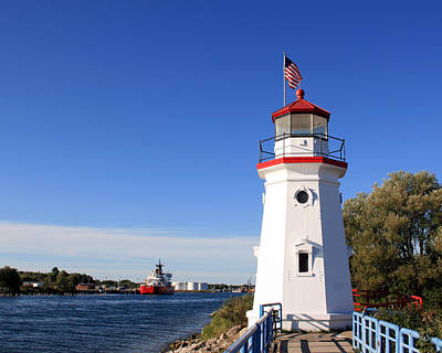 Photograph - Cheboygan Crib Lighthouse 1 by George Jones
