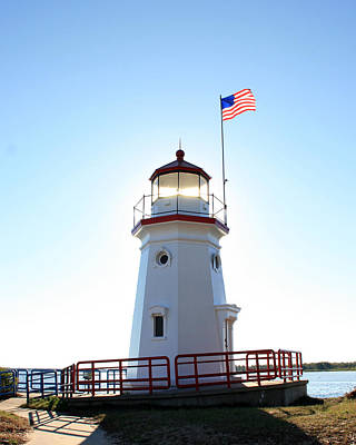 Photograph - Cheboygan Crib Lighthouse 2 by George Jones