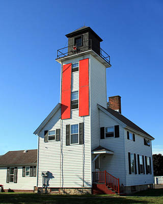 Photograph - Cheboygan River Front Range Lighthouse by George Jones