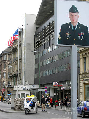 Photograph - Check Point Charlie Berlin Germany by Eva Kaufman