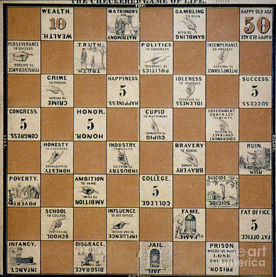 Photograph - Checkered Game Of Life, by Granger