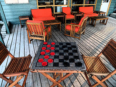 Photograph - Checkers Anyone - Hope Bay Campground by Cyryn Fyrcyd