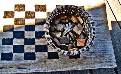 Checkers Art Print by Elisia Cosentino