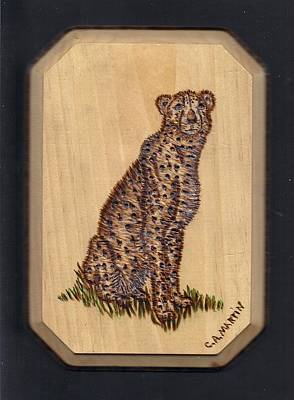 Cheetah Art Print by Clarence Butch Martin