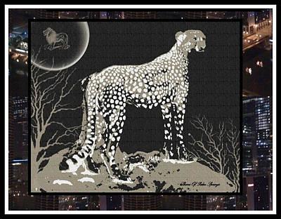 Cheetah Digital Art - Cheetah by Sherri  Of Palm Springs