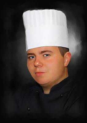 Painting - Chef In Black by Michael Greenaway