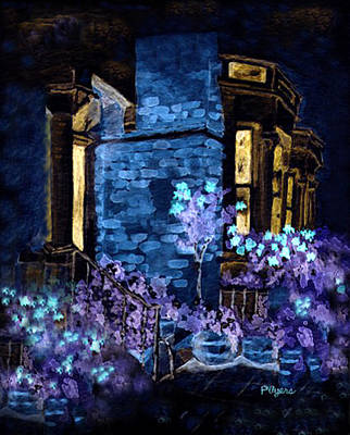 Art Print featuring the painting Chelsea Row At Night by Paula Ayers