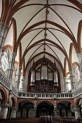 Photograph - Chemnitz Church Organ by Endre Balogh