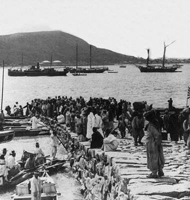 Photograph - Chemulpo Harbor - Korea - 1903 by International  Images