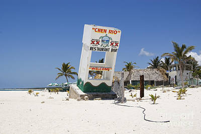 Art Print featuring the photograph Chen Rio Beach Bar Cozumel Mexico by Shawn O'Brien