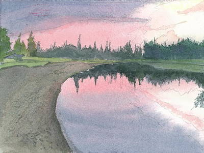 Painting - Chena River Sunset - 1 by Joel Deutsch