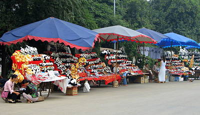 Photograph - Chengdu Panda Park Vendors by Carla Parris