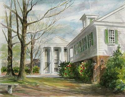 Art Print featuring the painting Cheraw Town Hall by Gloria Turner