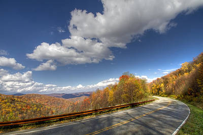 Cherohala Skyway Art Print by Debra and Dave Vanderlaan