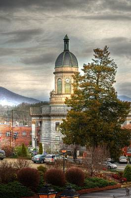 Mountain Photograph - Cherokee County North Carolina Courthouse by Greg and Chrystal Mimbs