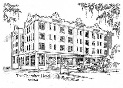 Painting - Cherokee Hotel by Audrey Peaty