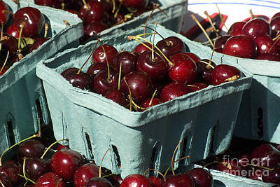 Photograph - Cherries At The Market by Jim And Emily Bush