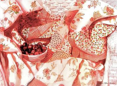 Painting - Cherries Jubilee by Susan Elise Shiebler