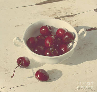 Cherries Still Life  Art Print