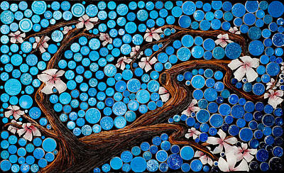 Mixed Media - Cherry Blossom 1 by Desiree Soule