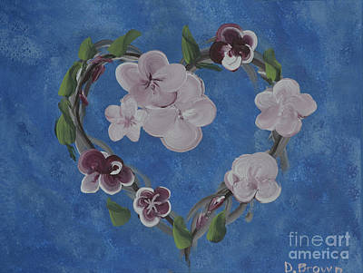 Painting - Cherry Blossom Heart by Donna Brown