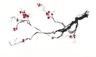 Cherry Blossom Art Print by Jitka Krause