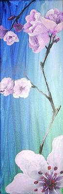 Diane Peters Painting - Cherry Blossoms 1 by Diane Peters