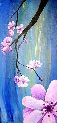 Diane Peters Painting - Cherry Blossoms 2 by Diane Peters