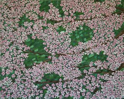 Cherry Blossoms Art Print by Karen Alonge