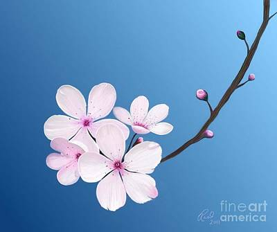 Art Print featuring the painting Cherry Blossoms by Rand Herron