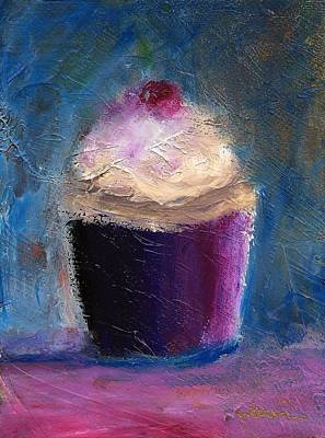 Jeannine Painting - Cherry On Top by Jeannine Luke