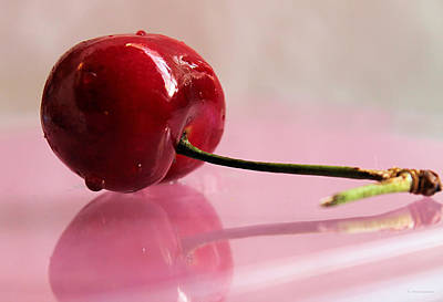 Photograph - Cherry Reflection by Sarah Broadmeadow-Thomas