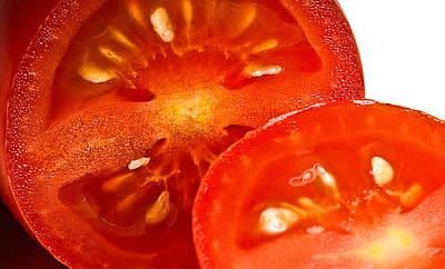 Photograph - Cherry Tomato-cut by  Onyonet  Photo Studios