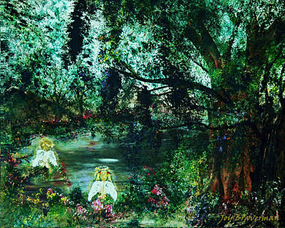 Painting - Cherub Lake by Joy Braverman