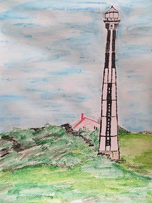 Lighthouse Drawing - Chesapeake Bay Lighthouse by Sonali Gangane