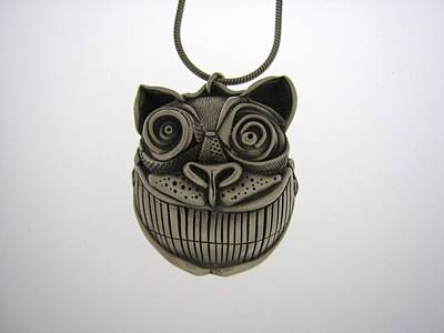 Pmc Jewelry - Cheshire Cat  by Michael Marx