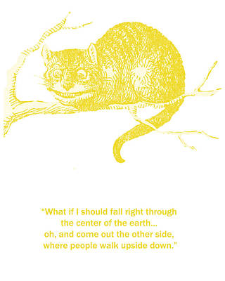 Childrens Books Digital Art - Cheshire Cat Wisdom by Georgia Fowler