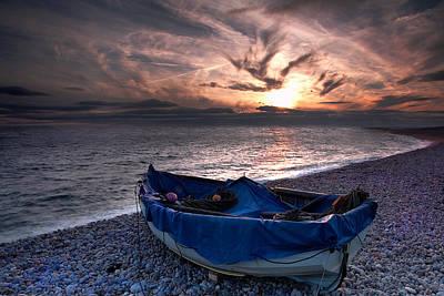 Chesil Boat Print by Kris Dutson