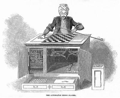 Chess: Automaton, 1845 Art Print