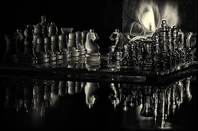 Photograph - Chess By Candlelight by Lori Coleman