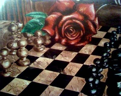 Drawing - Chess by Elizabeth Marks