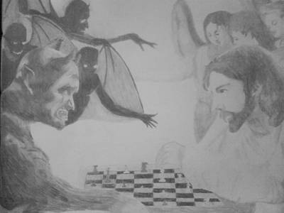 Drawing - Chess Game by Milton  Gore
