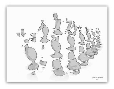 Digital Art - Chess I by James Granberry