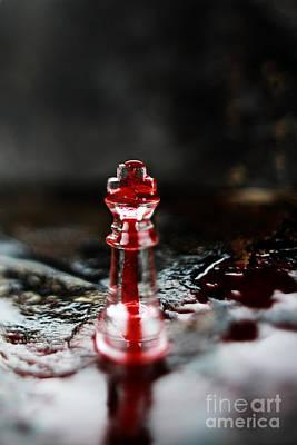 Chess Piece In Blood Art Print by Stephanie Frey